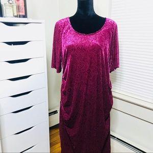 Motherhood Maternity Paisley Velvet Dress